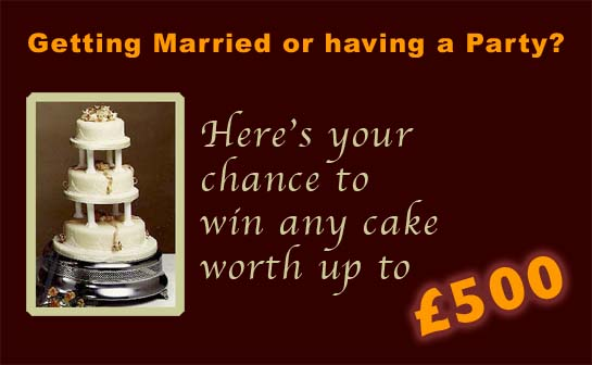 Win a wedding cake offer
