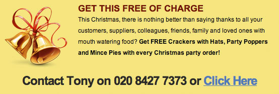 Christmas event catering offer 2014