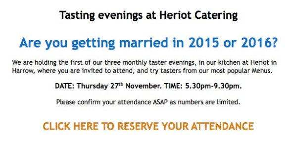 Heriot Food tasting evening